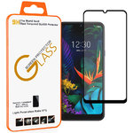Full Coverage Tempered Glass Screen Protector for LG K50 / Q60 - Black